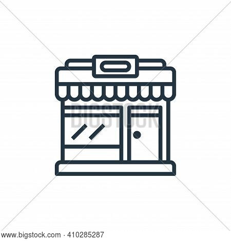 market icon isolated on white background from motorway collection. market icon thin line outline lin