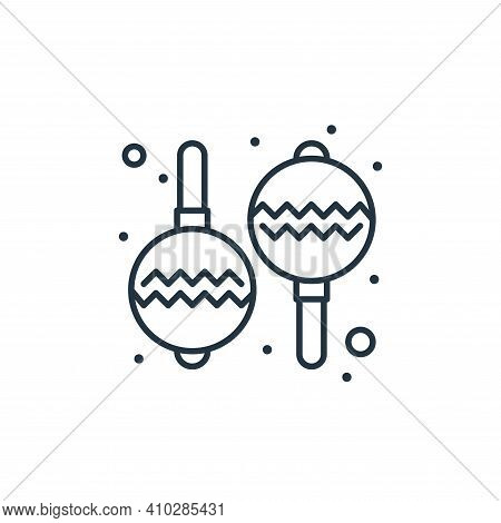 maracas icon isolated on white background from brazilian carnival collection. maracas icon thin line