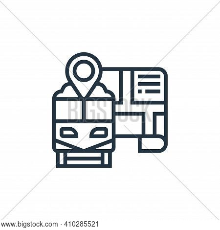 map pointer icon isolated on white background from railway collection. map pointer icon thin line ou