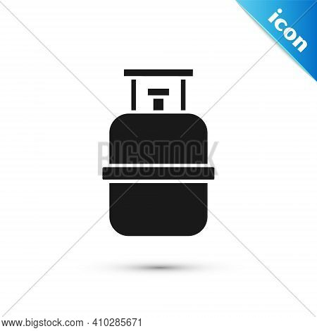 Grey Propane Gas Tank Icon Isolated On White Background. Flammable Gas Tank Icon. Vector