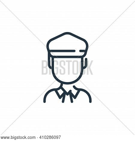 man icon isolated on white background from coronavirus collection. man icon thin line outline linear