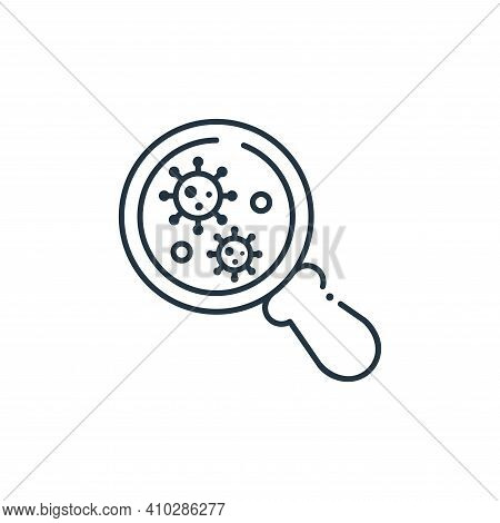 magnifying glass icon isolated on white background from coronavirus collection. magnifying glass ico