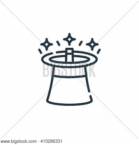 magic hat icon isolated on white background from circus collection. magic hat icon thin line outline