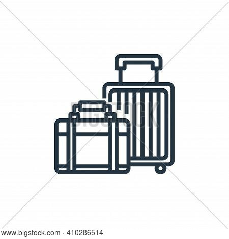 luggage icon isolated on white background from hotel collection. luggage icon thin line outline line