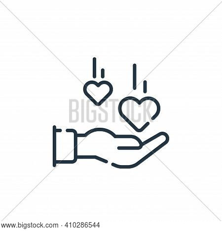 love icon isolated on white background from social media collection. love icon thin line outline lin