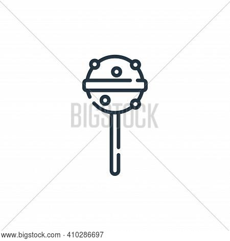 lollipop icon isolated on white background from circus collection. lollipop icon thin line outline l