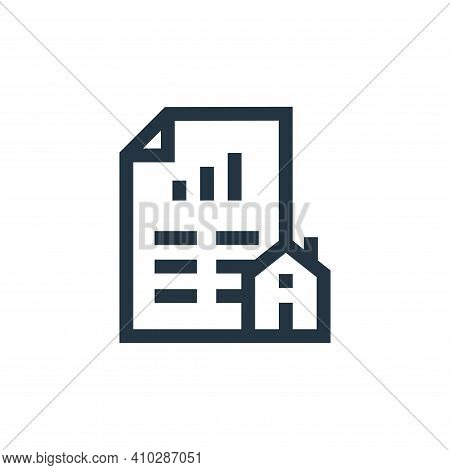loan icon isolated on white background from real estate collection. loan icon thin line outline line