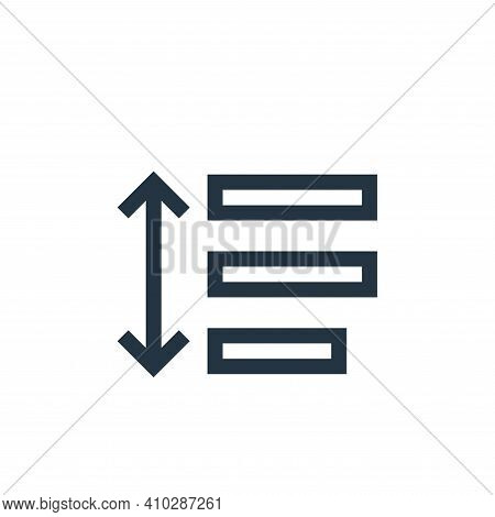 line spacing icon isolated on white background from text editor collection. line spacing icon thin l
