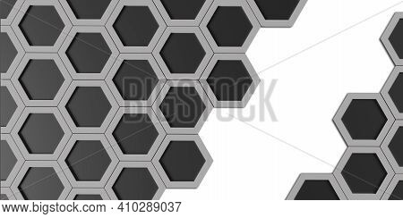 Hexagon Nest Hexagonal Frame Abstract Geometry Hexagonal Solid Steel Material Surface Technology Fra