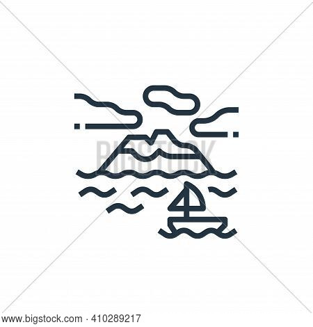 island icon isolated on white background from travel collection. island icon thin line outline linea