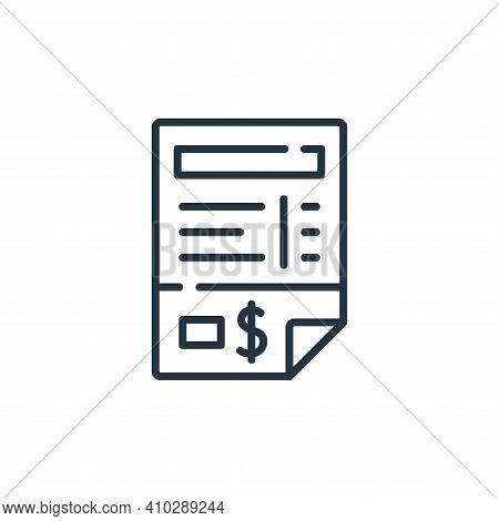 invoice icon isolated on white background from delivery collection. invoice icon thin line outline l