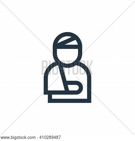 injury icon isolated on white background from insurance collection. injury icon thin line outline li
