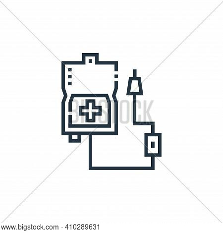 infusion icon isolated on white background from medical services collection. infusion icon thin line