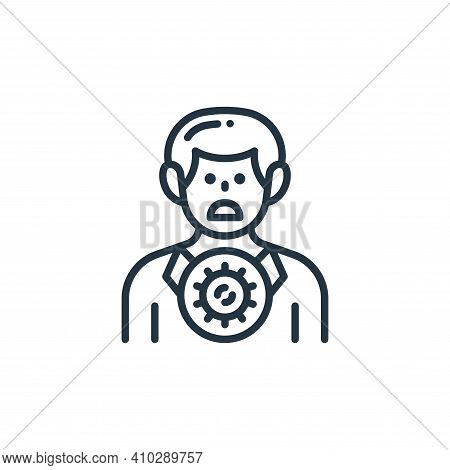 infected icon isolated on white background from virus transmission collection. infected icon thin li