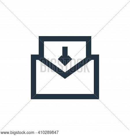 inbox mail icon isolated on white background from user interface collection. inbox mail icon thin li
