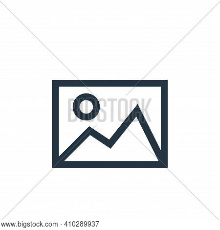 image icon isolated on white background from web essentials collection. image icon thin line outline