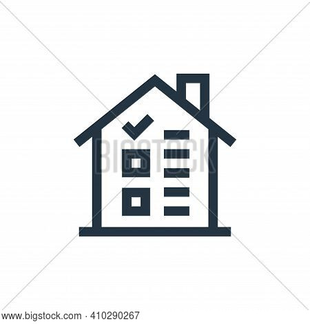 house icon isolated on white background from real estate collection. house icon thin line outline li
