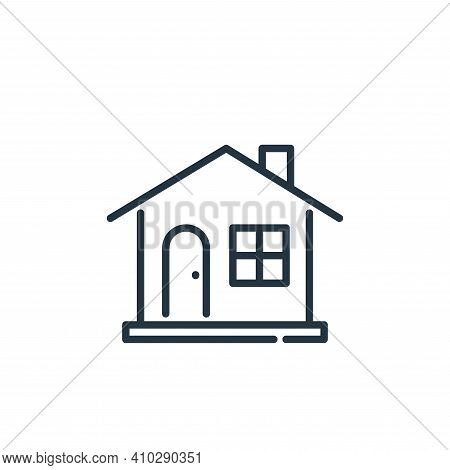 house icon isolated on white background from insurance collection. house icon thin line outline line