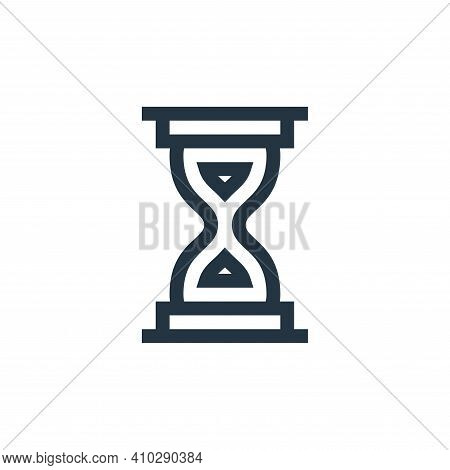 hourglass icon isolated on white background from history collection. hourglass icon thin line outlin