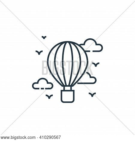 hot air balloon icon isolated on white background from tourism collection. hot air balloon icon thin