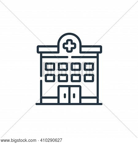 hospital icon isolated on white background from kindness collection. hospital icon thin line outline
