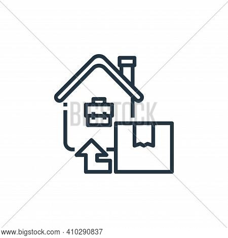 Home delivery icon isolated on white background from working from home collection. Home delivery ico