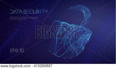 Information Technology Cyber Security. It Teamwork Cloud Email Data Protection. Vector Illustration.