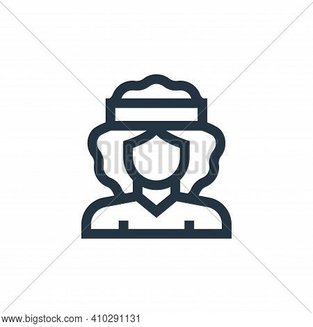 hippy icon isolated on white background from hippies collection. hippy icon thin line outline linear