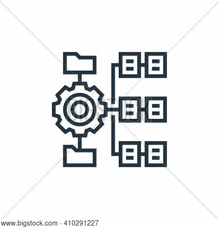 hierarchy icon isolated on white background from data analytics collection. hierarchy icon thin line
