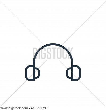 headset icon isolated on white background from hardware collection. headset icon thin line outline l