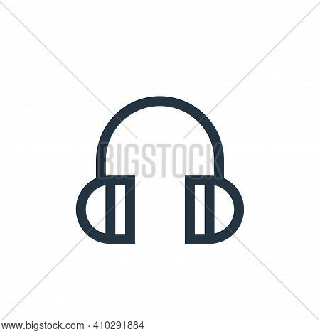 headphone icon isolated on white background from web essentials collection. headphone icon thin line