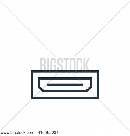 hdmi port icon isolated on white background from hardware collection. hdmi port icon thin line outli