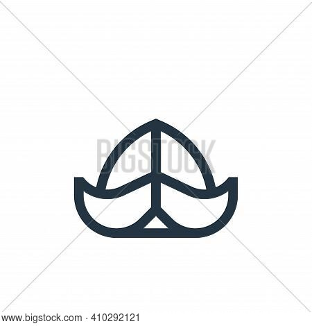 hat icon isolated on white background from holland collection. hat icon thin line outline linear hat