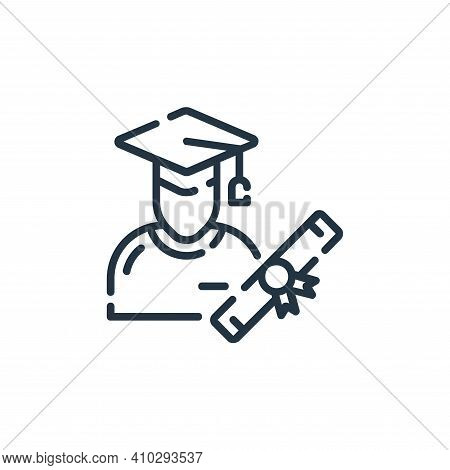 graduation icon isolated on white background from startup collection. graduation icon thin line outl