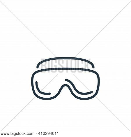 glasses icon isolated on white background from stop virus collection. glasses icon thin line outline