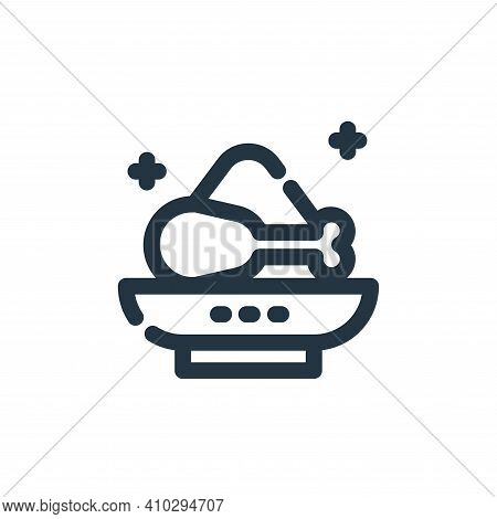 food icon isolated on white background from ramadan kareem collection. food icon thin line outline l