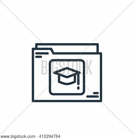 folder icon isolated on white background from elearning collection. folder icon thin line outline li