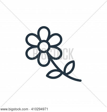flower icon isolated on white background from photography collection. flower icon thin line outline