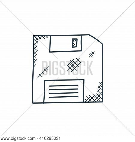 floppy disc icon isolated on white background from technology collection. floppy disc icon thin line