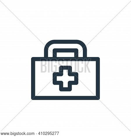 first aid kit icon isolated on white background from emergencies collection. first aid kit icon thin