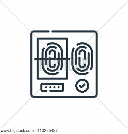 fingerprint scan icon isolated on white background from hacker collection. fingerprint scan icon thi