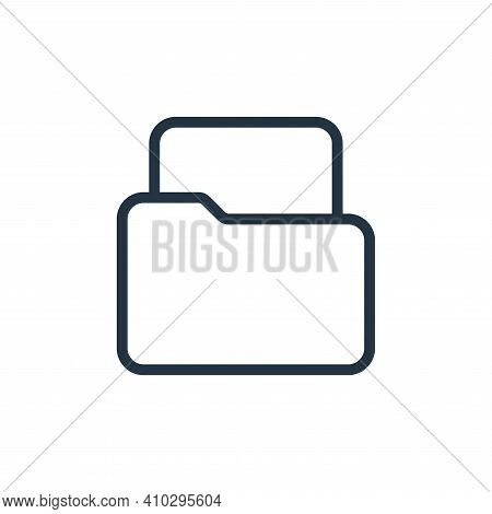 file icon isolated on white background from work office supply collection. file icon thin line outli