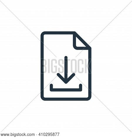 file icon isolated on white background from online learning collection. file icon thin line outline