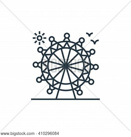 ferris wheel icon isolated on white background from tourism collection. ferris wheel icon thin line