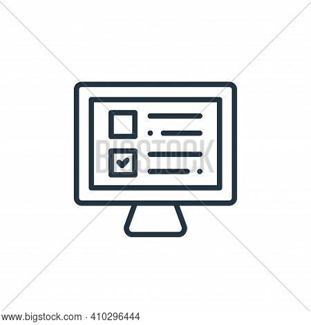 exam icon isolated on white background from online learning collection. exam icon thin line outline