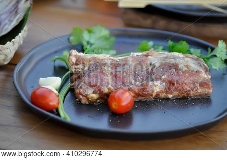 Raw Pork, Pork Rib Or Raw Pork Rib For Cook