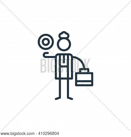 economics icon isolated on white background from general arts collection. economics icon thin line o