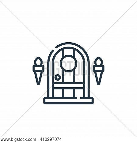 dungeon icon isolated on white background from videogame collection. dungeon icon thin line outline