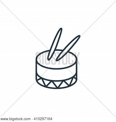 drum icon isolated on white background from music instruments collection. drum icon thin line outlin