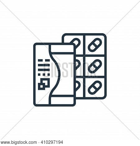 drug icon isolated on white background from fitness collection. drug icon thin line outline linear d